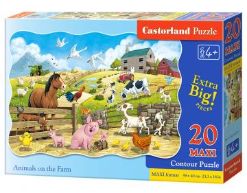 Animals on the Farm - Puzzle - 20 Teile maxi · CAS 024291 ·  Castorland