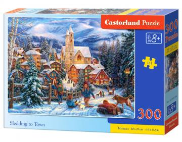 Sledding in Town - Puzzle - 300 Teile · CAS 030194 ·  Castorland