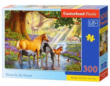 Horses by the Stream - Puzzle - 300 Teile · CAS 030286 ·  Castorland
