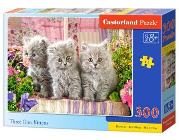 Three Grey Kittens - Puzzle - 300 Teile · CAS 030330 ·  Castorland