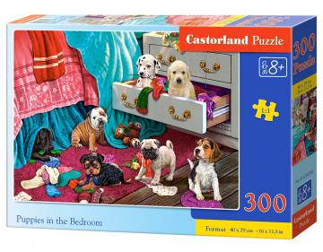 Puppies in the Bedroom - Puzzle - 300 Teile · CAS 030392 ·  Castorland