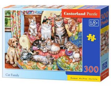 Cat Family - Puzzle - 300 Teile · CAS 030439 ·  Castorland