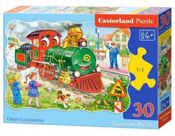 Green Locomotive - Puzzle - 30 Teile · CAS 034331 ·  Castorland