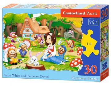 Snow White a.the Seven Dwarfs,Puzzle 30 Teile · CAS 034951 ·  Castorland