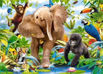 Junior Jungle, Puzzle 35 Teile · CAS 035021 ·  Castorland