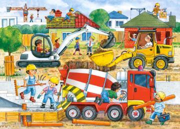 Construction Site, Puzzle 35 Teile · CAS 035069 ·  Castorland