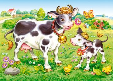 Cows on a Meadow, Puzzle 35 Teile · CAS 035090 ·  Castorland