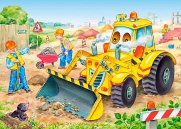 Bulldozer in Action, Puzzle 35 Teile · CAS 035168 ·  Castorland