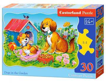 Dogs in the Garden,Puzzle 30 Teile · CAS 035491 ·  Castorland