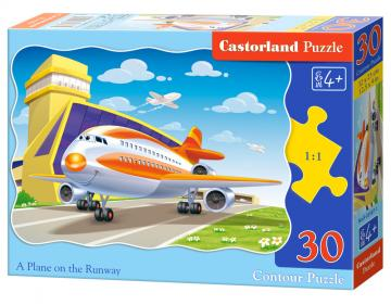 A Plane on the Runway - Puzzle - 30 Teile · CAS 035871 ·  Castorland