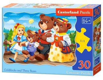 Goldilocks and Trree Bears - Puzzle - 30 Teile · CAS 037161 ·  Castorland