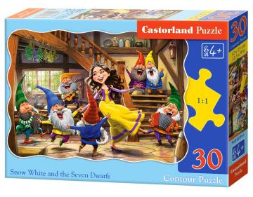 Snow White and the Seven Dwarfs - Puzzle - 30 Teile · CAS 037541 ·  Castorland