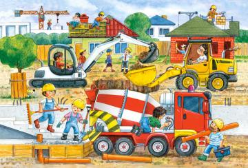 Construction Site,Puzzle 40 Teile maxi · CAS 0400181 ·  Castorland