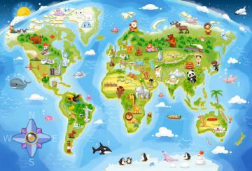 World Map,Puzzle 40 Teile maxi · CAS 0401171 ·  Castorland