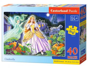 Cinderella, Puzzle 40 Teile maxi · CAS 0401551 ·  Castorland