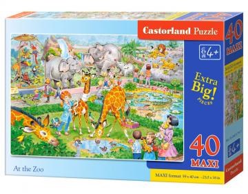 At the Zoo - Puzzle - 40 Teile maxi · CAS 0401791 ·  Castorland