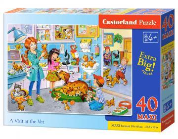 A Visit at the Vet - Puzzle - 40 Teile maxi · CAS 0401861 ·  Castorland