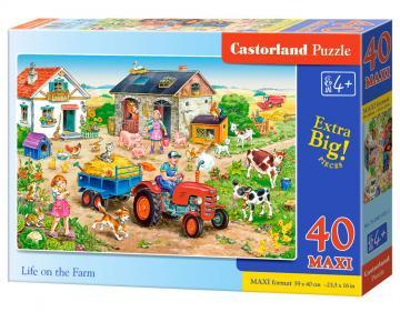 Life on the Farm - Puzzle - 40 Teile maxi · CAS 0401931 ·  Castorland