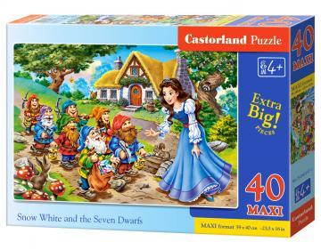 Snow White and the Seven Dwaefs - Puzzle - 40 Teile maxi · CAS 0402471 ·  Castorland