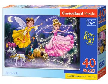 Cinderella - Puzzle - 40 Teile maxi · CAS 0402781 ·  Castorland