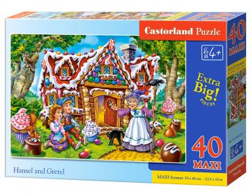 Hansel and Gretel - Puzzle - 40 Teile maxi · CAS 0402851 ·  Castorland