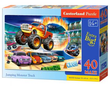 Jumping Monster Truck - Puzzle - 40 Teile maxi · CAS 0403081 ·  Castorland