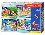 Beautiful Fairy Tales - 4xPuzzle (8+12+15+20 Teile) · CAS 041008 ·  Castorland
