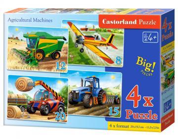 Agricultural Machines ,4 x Puzzle (8+12+15+20 Teile) · CAS 041039 ·  Castorland
