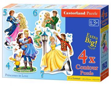 Princesses in Love - Puzzle - 4+5+6+7 Teile · CAS 044612 ·  Castorland