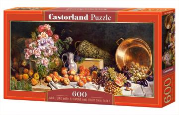 Still life with flowers and fruit on a table - Puzzle - 600 Teile · CAS 060108 ·  Castorland