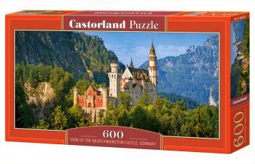 View of the Neuschwanstein Castle,German Puzzle 600 Teile · CAS 060221 ·  Castorland