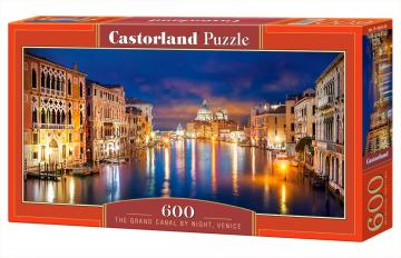 The Grand Canal by Night,Venice,Puzzle 600 Teile · CAS 060245 ·  Castorland
