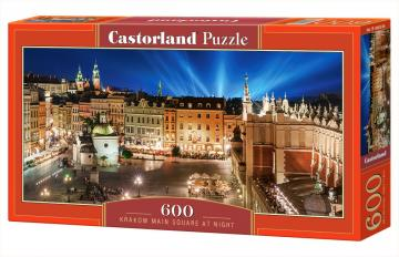 Krakow Main Square at Night,Puzzle 600 Teile · CAS 060306 ·  Castorland