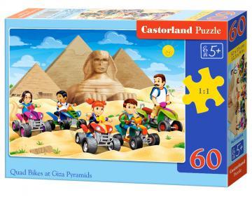 Quad Bikes at Giza Pyramids,Puzzle 60 Teile · CAS 066018 ·  Castorland