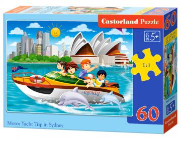 Motor Yacht Trip in Sydney,Puzzle 60 Teile · CAS 066025 ·  Castorland