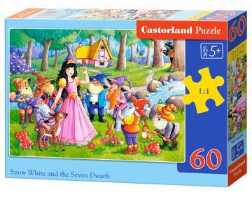 Snow White and the Seven Dwarfs,Puzzle60 Teile · CAS 066032 ·  Castorland
