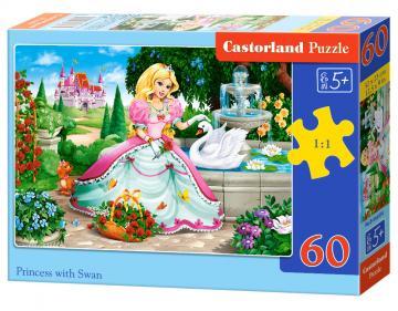 Princess with Swan - Puzzle - 60 Teile · CAS 066056 ·  Castorland