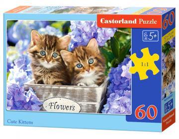 Cute Kittens - Puzzle - 60 Teile · CAS 066087 ·  Castorland