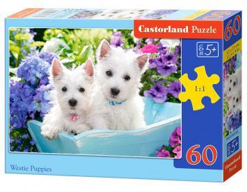Westie Puppies - Puzzle - 60 Teile · CAS 066100 ·  Castorland