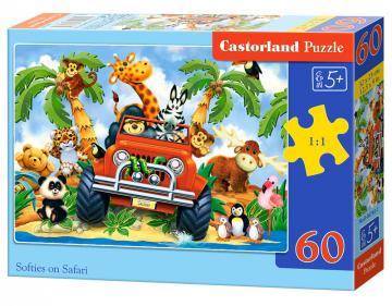 Softies on Safari - Puzzle -60 Teile · CAS 067931 ·  Castorland