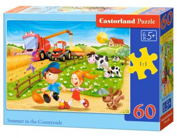 Summer in the Countryside,Puzzle - 60 Teile · CAS 068781 ·  Castorland
