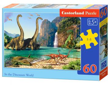 In the Dinosaurus World - Puzzle - 60 Teile · CAS 069221 ·  Castorland