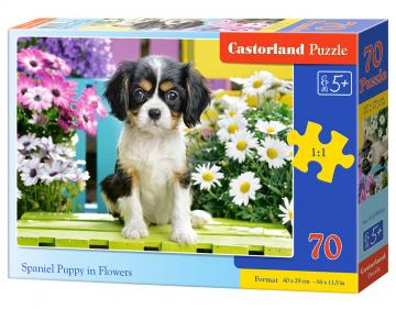 Spaniel Puppy in Flowers - Puzzle - 70 Teile · CAS 070053 ·  Castorland