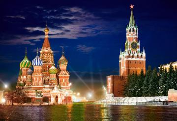 Red Square by Night,Moscow,Puzzle 1000 T · CAS 1017882 ·  Castorland