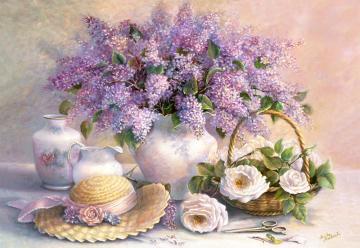 Flower Day,Trisha Hardwick,Puzzle 1000 T · CAS 1020062 ·  Castorland