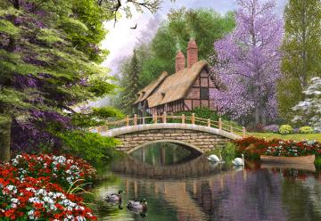 River Cottage,Puzzle 1000 Teile · CAS 1023652 ·  Castorland