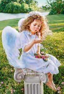 Angel Whispers, Sandra Kuck,Puzzle 1000 · CAS 1027922 ·  Castorland