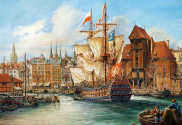 The Old Gdansk,Puzzle 1000 Teile · CAS 1029142 ·  Castorland