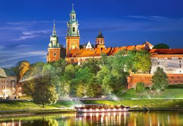 Wawel Castle by night,Poland,Puzzle 1000 · CAS 1030272 ·  Castorland