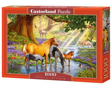 Horses by the Stream - Puzzle - 1000 Teile · CAS 1037372 ·  Castorland